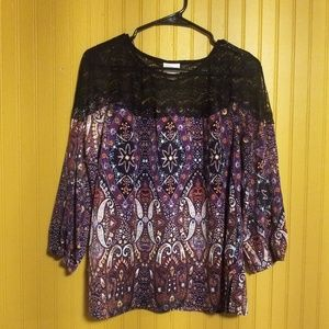 2/$16 Jaclyn Smith Blouse Size Large